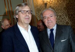 Achille Colombo Clerici con Vittorio Sgarbi