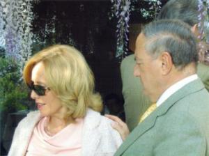 con la moglie Giovanna