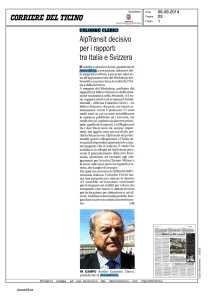 Corriere Ticino 6.9.2014