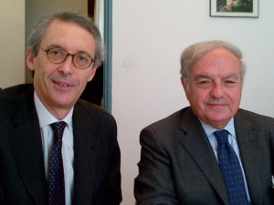 Achille Colombo Clerici con Carlo Marietti Andreani