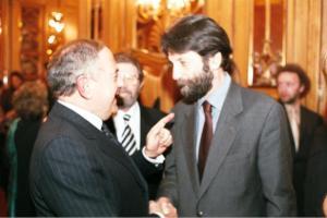 Achille Colombo Clerici con Massimo Cacciari 2