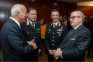 console Catalfamoi comandanti dei Carabinieri Marco Scursatone Maurizio Stefanizzi e Achille Colombo Clerici