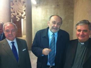 Mons. Giantantonio Borgonovo, Armando Torno, Achille Colombo Clerici