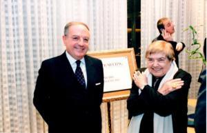 Achille Colombo Clerici con Fernanda Pivano