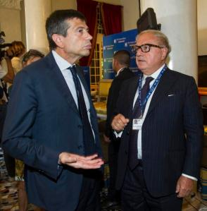 Achille Colombo Clerici con Maurizio Lupi
