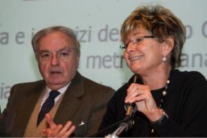 Achille Colombo Clerici con Emilia Rio