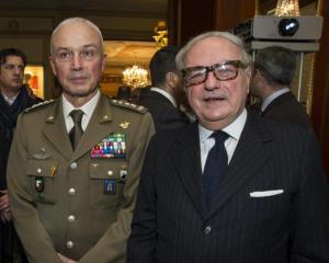 Achille Colombo Clerici con Gen. Giorgio Battisti
