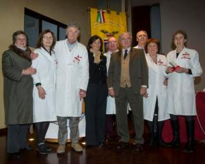 Marta Cantoni, Simonetta Sborea, Achhille COlombo Clerici e i volontari Lilt