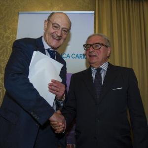 Achille Colombo Clerici con Gabriele Nissim