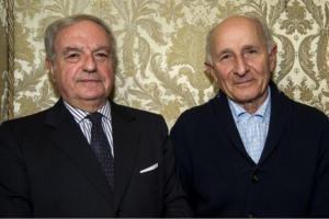 Achille Colombo Clerici con Gino Rigoldi