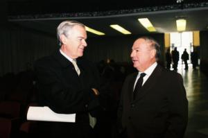 Achille Colombo Clerici con Umberto Bertele'