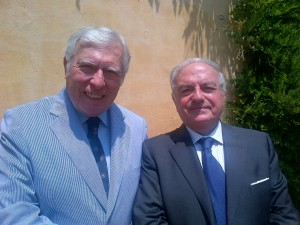 Achille Colombo Clerici con Manfredi Landi di Chiavenna