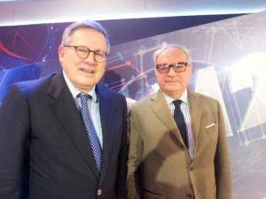 Achille Colombo Clerici con Paolo Liguori