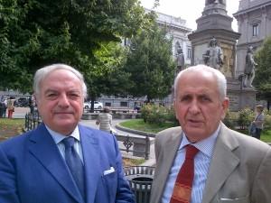 Achille Colombo Clerici con Luigi Orombelli