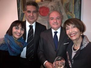 Achille Colombo Clerici con Pierluigi Mantini, Fania Cavaliere Mantini e Adriana Cavaliere