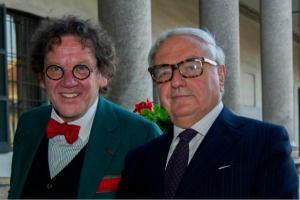 Philippe Daverio con Achille Colombo Clerici