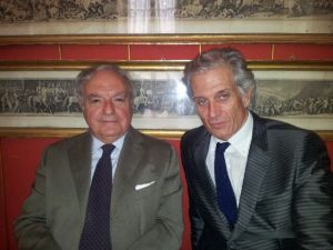 Achille Colombo Clerici con Massimiliano Finazzer Flory