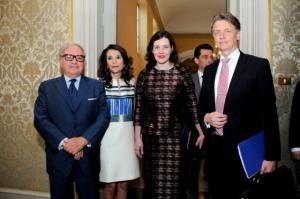 Colombo Clerici, Patrizia Signorini, Ministro Economia Lituania Dana Reizniece-Ozola, Ambasciatore Lettonia Artis Bertulis