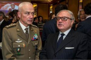 Colombo Clerici con il Gen. Giorgio Battisti