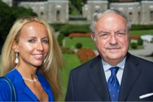 Achille Colombo Clerici con la figlia Giulia al Forum Ambrosetti 2