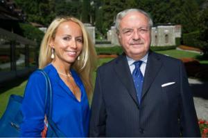 Achille Colombo Clerici con la figlia Giulia