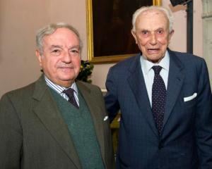 Giuseppe Barbiano di Belgiojoso con Achille Colombo Clerici