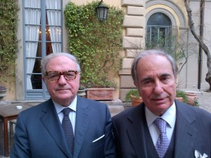 Riccardo Riccardi con Achille Colombo Clerici