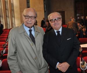 Achille Colombo Clerici con Virginio Rognoni