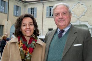 Achille Colombo Clerici con la figlia Malu