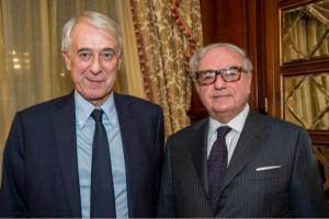 Achille Colombo Clerici con Giuliano Pisapia