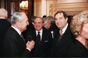 Achille Colombo Clerici con Rosario Alessandrello pres. Camera Commercio Italo Russa e con Gian Galeazzo Biazzi Vergani del Giornale