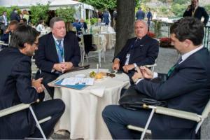 Colombo Clerici con il Console Generale di Russia Alexandre Nurizade e Stefano Simontacchi