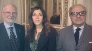 da sin. Alessandro Pajno, Marilisa D'Amico, Achille Colombo Clerici