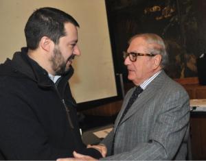 Achille Colombo Clerici con Matteo Salvini