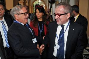 Achille Colombo Clerici con Roberto Maroni