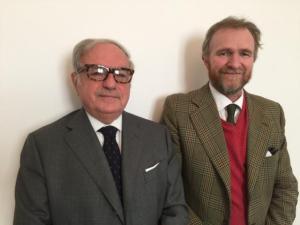 Alessandro Barbiano di Belgiojoso con Achille Colombo Clerici