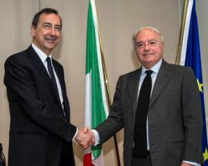 Giuseppe Sala con Achille Colombo Clerici