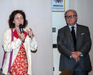 Achille Colombo Clerici con Milly Moratti