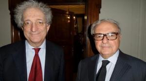 Enrico Morando con Achille Colombo Clerici