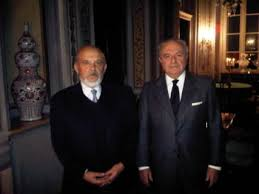 Giuseppe Visconti con Achille Colombo Clerici