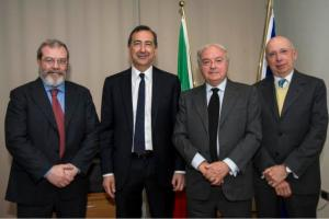 Alessandro Panza, Giuseppe Sala, Achille Colombo Clerici, Carlangelo Menni