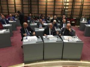 Da sinistra, Claudio De Albertis, Achille Colombo Clerici, Aldo Loris Rossi