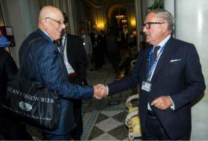 Mario Boselli con Achille Colombo Clerici