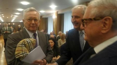 Giulio Tremonti con Giampio Bracchi e Achille Colombo Clerici
