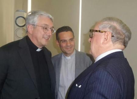 Mons. Luca Bressan e Don Walter Magnoni con Achille Colombo Clerici