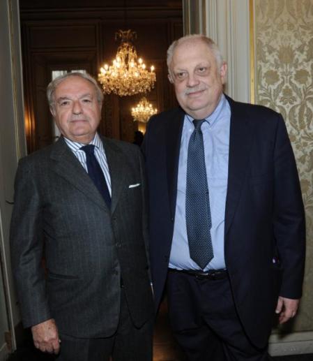 Giancarlo Mazzuca con il presidente IEA Achille Colombo Clerici