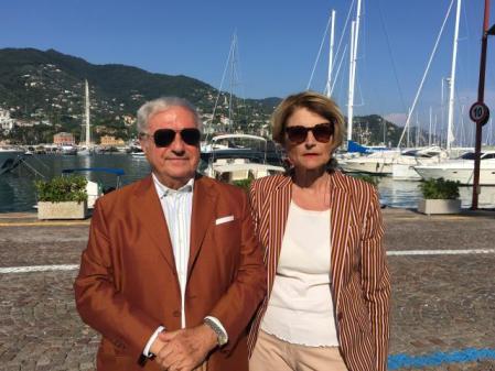 Monica Amari Staglieno con Achille Colombo Clerici